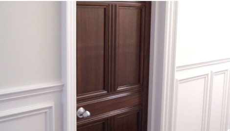 Mahogany Doors Finished using French Polishing