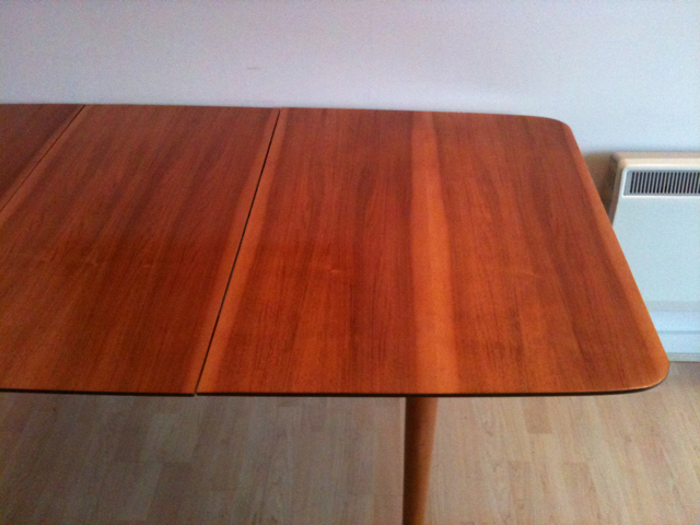 50s Walnut Table Restored With French Polishing
