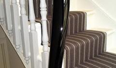 Handrail Finished in Black French Polish Using French Polishing