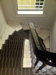Handrail Finished in Black French Polish Using French Polishing