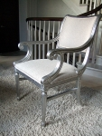 Silver Leaf and French Polished Chair
