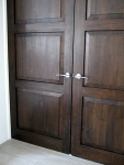 Coffee Bean Coloured Oak Doors - Achieved With French Polishing
