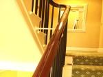 Mahogany Handrail Restored Using French Polishing Techniques