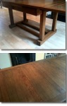 French Polished Oak Table Restored Using French Polishing