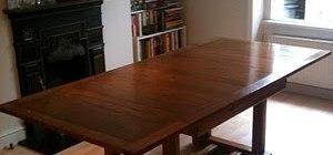 French Polished Oak Table Restored Using French Polishing