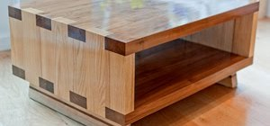 Solid Walnut and Ash Coffee Table for Sale