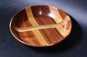 Handmade Iroko, sycamore, mahogany Bowl for sale