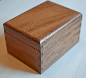Handmade Iroko Box for Sale