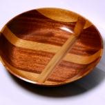 Handmade Iroko Sycamore and Mahogany Bowl
