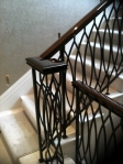 Walnut Handrail Restored Using French Polishing Techniques