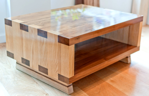 Handmade Walnut and Ash Coffee Table