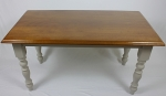 Solid Handmade Iroko Dinning Table With Reclaimed Timber