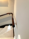 Light to Dark Oak Handrail After French Polishing