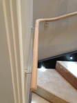 Light to Dark Oak Handrail Before French Polishing