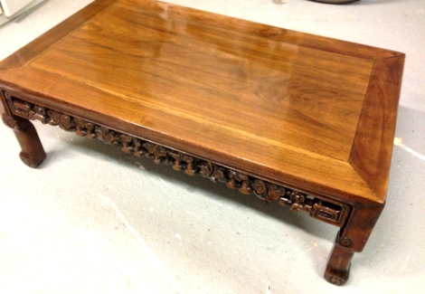 French Polishing Repair Heat Marked Table