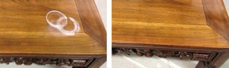 French Polishing Repair Heat Mark