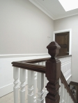 Mahogany Handrail After French Polishing