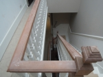 Mahogany Handrail Before French Polishing