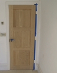 Oak Door Before French Polishing