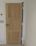 Oak Door Before French Polishing