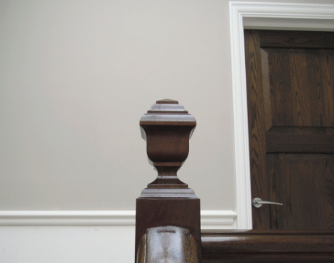Oak Doors and Mahogany Handrail French Polished