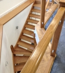 French Polished Oak Staircase