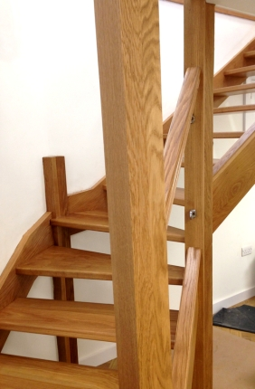What is French Polishing - French Polishing on Oak Staircase