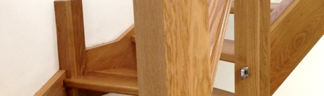 Oak Staircase With 3 Finishes - French Polish and Two types of Lacquer