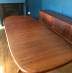 Rosewood Table and Unit After French Polishing