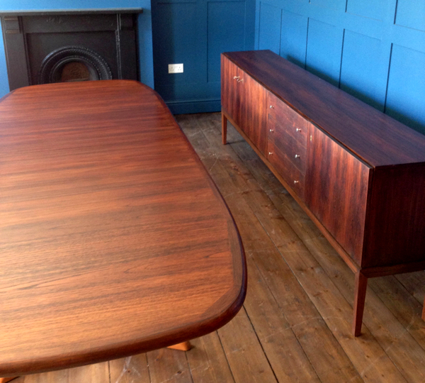 Converted Teak Boardroom Table To Rosewood Dining Table Paleamber