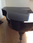 French Polishing Black Piano