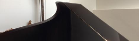 French Polishing Black Piano