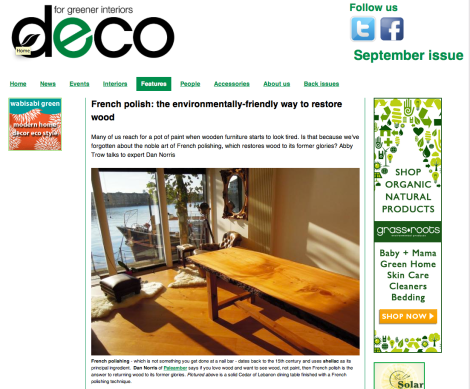 deco Magazine Paleamber French Polishing Environment Feature
