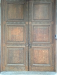 Grade II Listed Oak Doors Before French Polishing