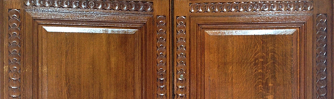 Grade II Listed Oak Doors French Polishing
