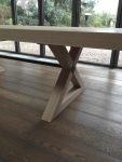 French Polishing Grey Oak Table