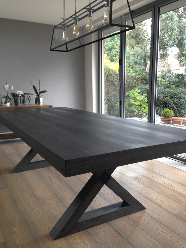 French Polishing A Grey Oak Dining Table Paleamber