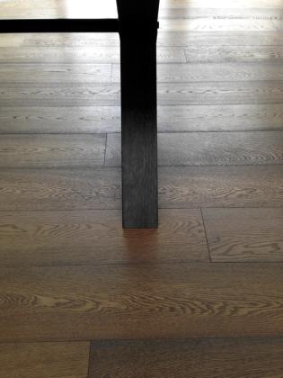 French Polishing Grey Oak Table
