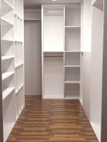 Walk In Wardrobe Rendered Image